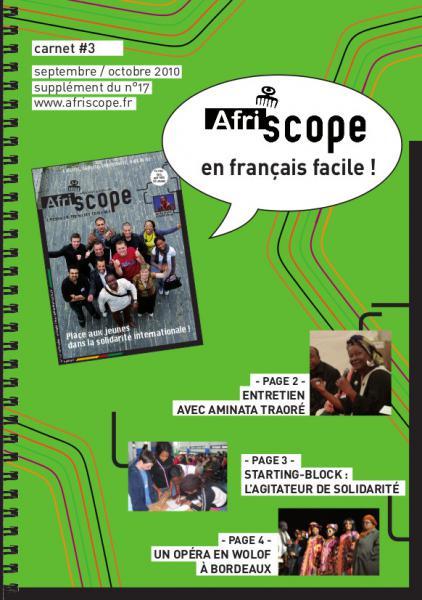 Afriscope en français facile #3 : Place aux jeunes dans la solidarité internationale